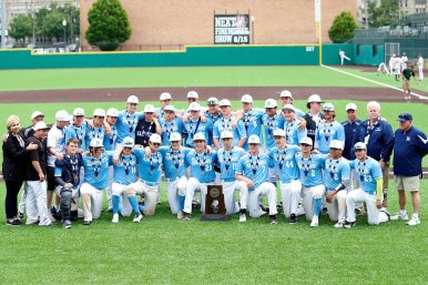 The Nazareth Academy baseball team finished third in the Class 3A state playoffs in 2018. (Courtesy Twitter/@Baseball_Naz)
