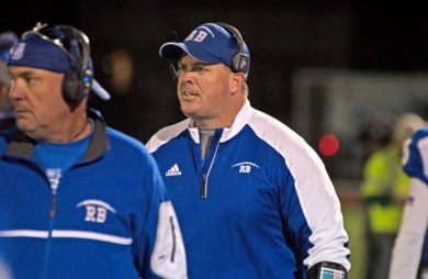 RBHS head football coach Brendan Curtin was hired to tbe the school's athletic director, effective July 1, 2018. Curtin, a 1991 graduate of RBHS, will continue to coach the football team as well. (File photo)