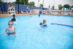 Children play in the smaller pool together on June 14, at the Riverside Swim Club on Bloomingbank Road in Riverside. | Alexa Rogals/Staff Photographer