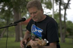"""Sean """"Hollywood Slim"""" Short lays down some blues riffs for visitors to the Brookfield Farmers Market on June 23. 