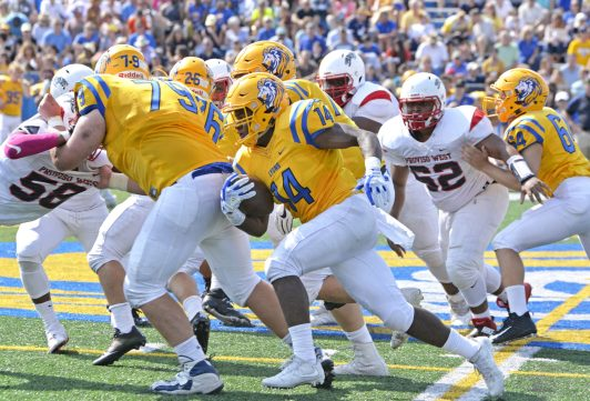 LTHS running back Tyrone Smith (12 carries, 25 yards) was held in check by Sandburg on Friday, Aug. 24 in Western Springs. The Eagles defeated the Lions 24-13. (File photo)