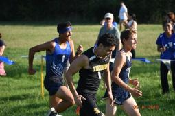 RBHS senior David Keen recorded a time of 17:50.1 to notch 20th place in the individual standings. (Photo by John Keen)