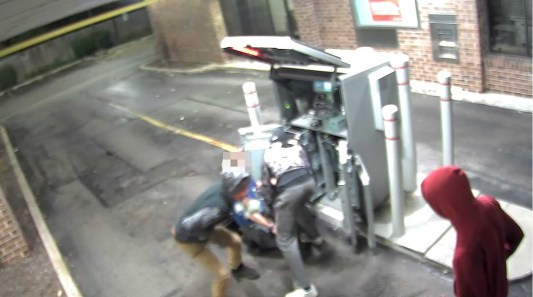 A surveillance camera at Bank of America captured the Sept. 24 robbery. (Image courtesy of the Riverside Police Department)