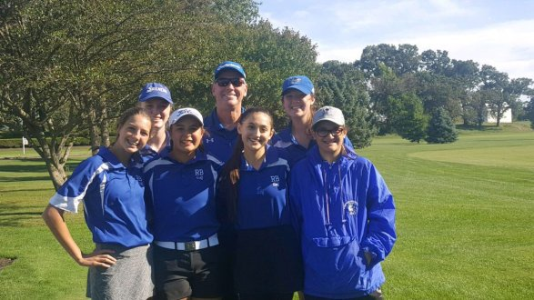 With only six varsity players, the Riverside-Brookfield High School girls golf team fielded a competitive team all season. The Bulldogs begin postseason play this week at regionals. (Courtesy RBHS)