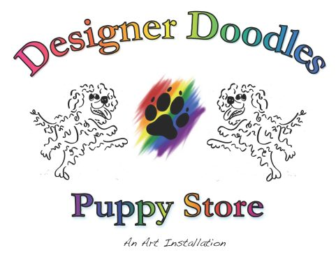 This is the logo I created for the puppy store.