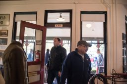 Attendees enter the museum and check out historical items on Nov. 3, during the Founder's Day event at Grossdale Station in Brookfield. | ALEXA ROGALS/Staff Photographer