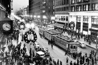 The Brookfield Public Library, 3609 Grand Blvd., invites you to relive the days when State Street was king at Christmas and crowds with gather round the windows at Marshall Field's to gawk at the adventures of Uncle Mistletoe before heading inside to gaze in awe at the tree inside the Walnut Room.