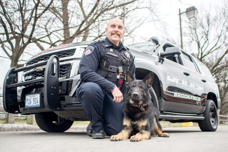 Brookfield Police Officer Ed Weissgerber and his canine partner, Sire, hit the streets in mid-November as the department's new K-9 unit, made possible by a 5,000 donation be the Brookfield Kiwanis Club. | Alexa Rogals/Staff Photographer