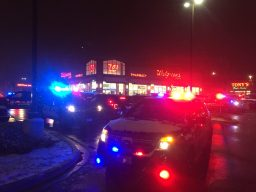 Police maintained a strong presence at the Cermak Plaza for more than two hours after North Riverside Park Mall was closed on Dec. 29. (Bob Uphues|Staff)