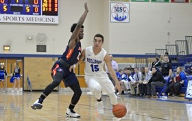 RBHS senior guard Zach Vaia is equally adept at socring and passing. The Bulldogs' floor general is also a solid defender. (File photo)