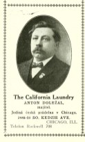 "An early president of the S&L, Anton Dolezal, who ran a laundry business. | From ""Directory and Almanac of the Bohemian Population of Chicago,"" 1915"