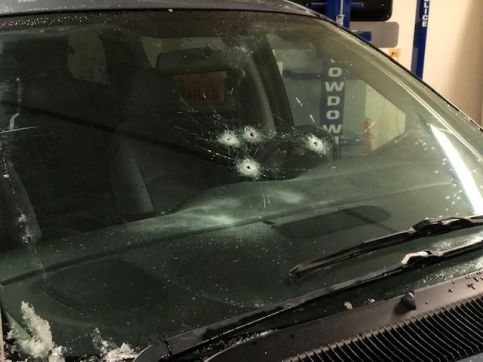 Nicholas Radkiewicz reportedly fired four rounds through the windshield of the victim's car, striking the victim twice. The 19-year-old Broadview resident remains in the intensive care unit at Loyola University Medical Center, where he underwent emergency surgery Saturday night. (Photo courtesy of the Riverside Police Department)