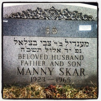 Manny Skar was buried on Sept. 14, 1965, three days after he was gunned down outside his Lake Shore Drive apartment building. He was laid at rest near his parents graves in the Waldheim Cemetery in North Riverside, behind the businesses that line Harlem Avenue north of 21st Street. | Bob Uphues/Staff