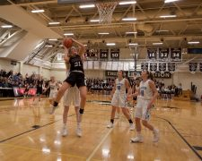 Fenwick freshman Audrey Hinrichs attempts a shot inside against Nazareth in the Class 3A final of the Fenwick Sectional. (Photo by @scotchindian)