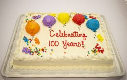 A birthday cake was presented for the residents on March 21, during a birthday celebration for residents that turned 100 and over at Heritage Hall at Caledonia Senior Living and Memory Care in North Riverside. | Alexa Rogals/Staff Photographer