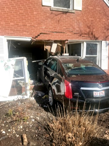 North Riverside resident Derry Stone, 28, has been charged with felony DUI an April 8 crash in Brookfield that has displaced a family of four, probably for at least six months. (Photo courtesy of the Brookfield Police Department)