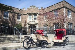 Triobikes are seen parked outside of the Scottish Homes entrance on May 3, at the Caledonia Senior Living & Memory Care in North Riverside. | Alexa Rogals/Staff Photographer