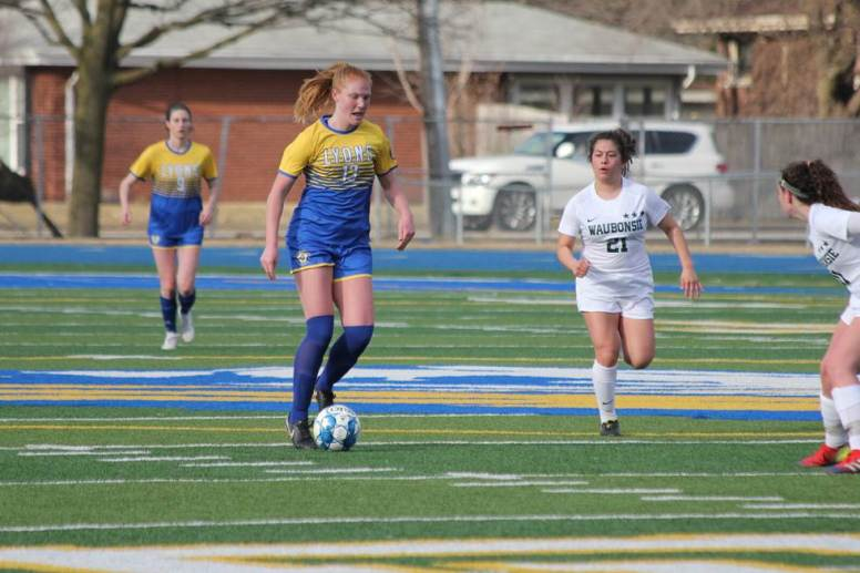 LTHS senior midfielder Eileen Murphy led the Lions with 22 goals this season. She will play college soccer at Illinois. (Photo by John Mattern)