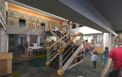 Riverside Library officials hope voters will approve a .5 million referendum next spring to allow them to complete a major overhaul of the lower level, separating child and teen spaces, enlarging the public meeting room, installing new lighting and other amenities for younger library patrons. (File)