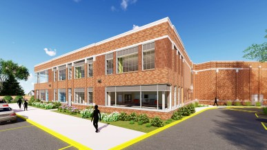 The largest improvement project will come at Ames School, where an addition will provide a multipurpose room, several small-group learning spaces and classrooms for the district's early learning center. (Provided)