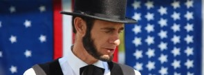 """Brookfield Public Library invites you to join Abraham Lincoln impersonator Kevin Wood for """"Abraham Lincoln: Immigration & America's Place in the World"""" on May 4."""