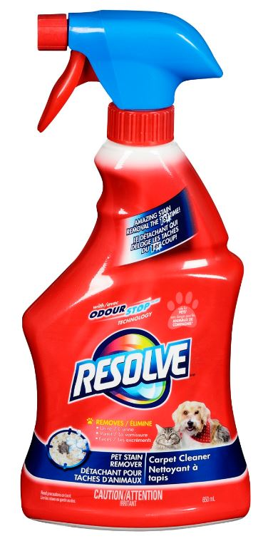 Resolve Pet Stain Remover Carpet Cleaner Msds