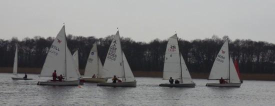 A fleet start race 2 Club winter regatta
