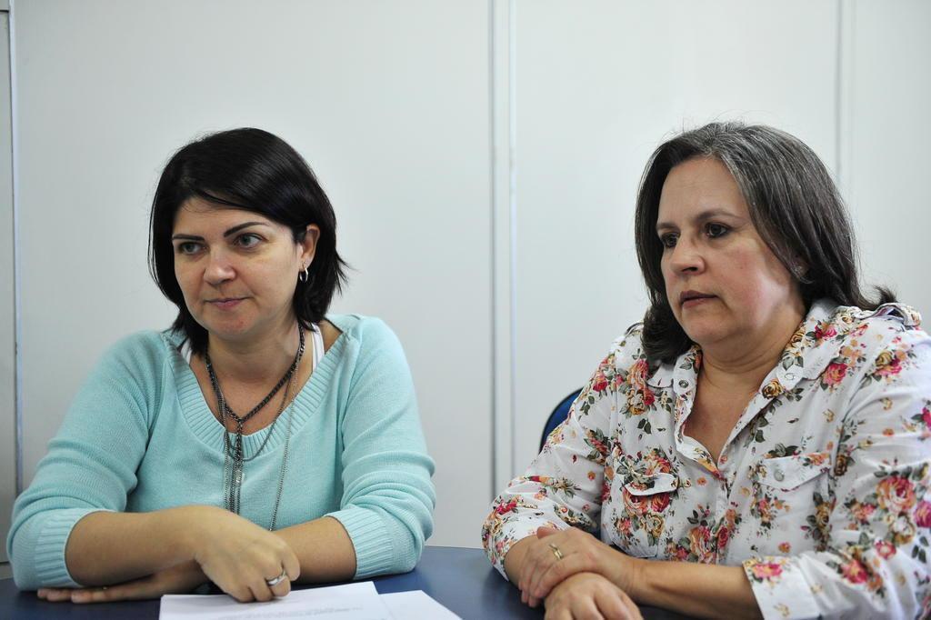 Santa Maria - RS - Brasil 11/09/2017Prêmio professora ONUCristiane Cardoso de Paula  (está de verde)   e  Stela Maris de Mello Padoin (de blusa florida)  - professoras e enfermeiras