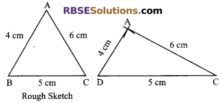 RBSE Solutions for Class 9 Maths Chapter 8 Construction of Triangles Ex 8.1