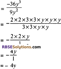 RBSE Solutions for Class 8 Maths Chapter 10 गुणनखण्ड Ex 10. 3 Q1A