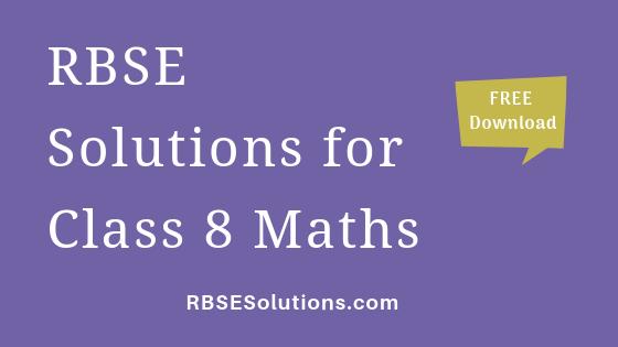 RBSE Solutions for Class 8 Maths गणित
