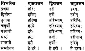 RBSE Class 6 Sanskrit व्याकरण शब्द-रूप प्रकरणम् 2