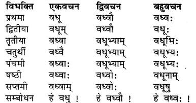 RBSE Class 7 Sanskrit व्याकरण शब्द रूप प्रकरणम् 11