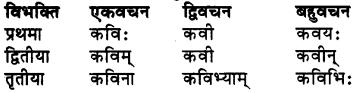 RBSE Class 7 Sanskrit व्याकरण शब्द रूप प्रकरणम् 2