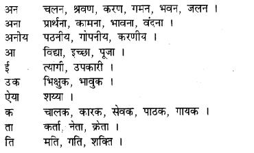 RBSE Class 9 Hindi व्याकरण प्रत्यय 3