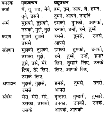 RBSE Class 9 Hindi व्याकरण सर्वनाम 1