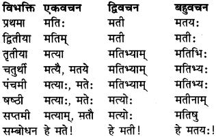 RBSE Class 9 Sanskrit व्याकरण रूप-प्रकरणम् 11