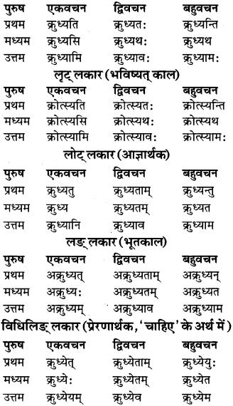 RBSE Class 9 Sanskrit व्याकरण रूप-प्रकरणम् 60