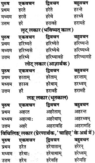 RBSE Class 9 Sanskrit व्याकरण रूप-प्रकरणम् 80