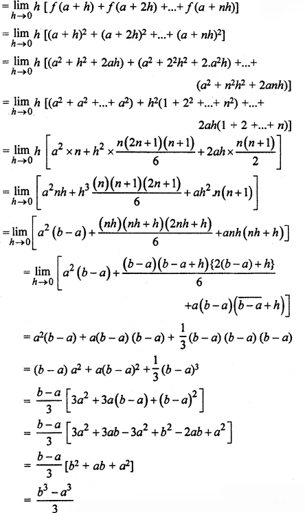 RBSE Solutions for Class 12 Maths Chapter 10 निश्चित समाकल Ex 10.1
