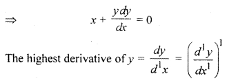 RBSE Solutions for Class 12 Maths Chapter 12 Differential Equation Ex 12.1
