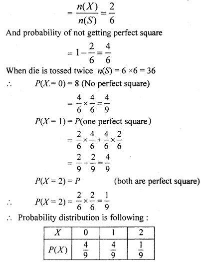 RBSE Solutions for Class 12 Maths Chapter 16 Probability and