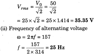 RBSE Solutions for Class 12 Physics Chapter 10 Alternating Current 36