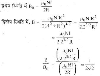 RBSE Solutions for Class 12 Physics Chapter 7 विद्युत धारा के चुम्बकीय प्रभाव 2