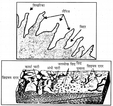 RBSE Solutions for Class 11 Physical Geography Chapter 10 अपरदन के कारक 14