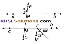 RBSE Solutions for Class 9 Maths Chapter 5 समतल ज्यामिती परिचय एवं रेखाएँ व कोण Miscellaneous Exercise