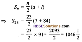 RBSE Solutions for Class 10 Maths Chapter 5 Arithmetic Progression Ex 5.3 3