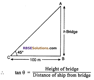 RBSE Solutions for Class 10 Maths Chapter 8 Height and Distance Additional Questions 22