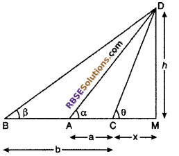 RBSE Solutions for Class 10 Maths Chapter 8 Height and Distance Additional Questions 36