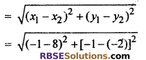 RBSE Solutions for Class 10 Maths Chapter 9 Co-ordinate Geometry Ex 9.1 8